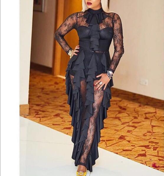 Vendaje Moda Celebridad Alta De Club Mujeres Largo Noche Ngiht Calidad Sexy Vestido Las Negro Fiesta La Vestidos Encaje Elegante 1fAf4EnqHw