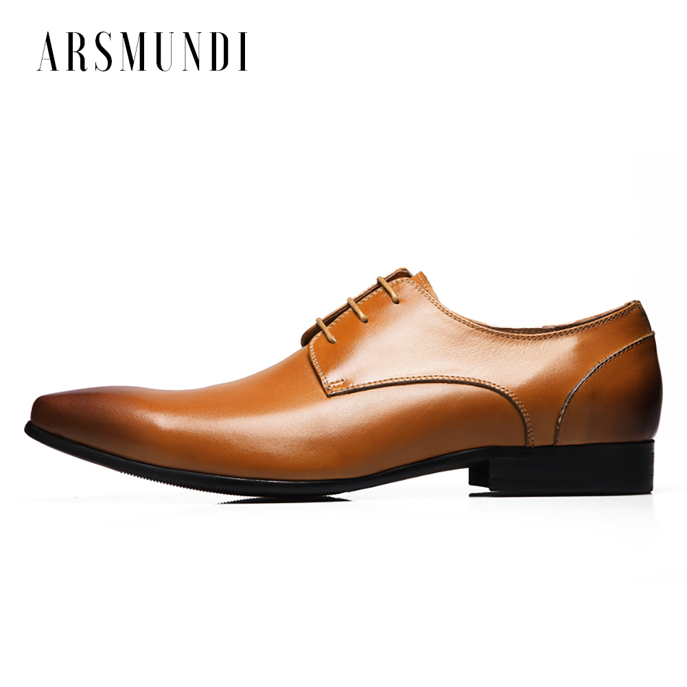 Genuine Leather Mens Derby Shoes Classic Oxfords Wedding Dress Shoes Business Formal Brogue Pointed Toe genuine leather mens derby shoes classic oxfords wedding dress shoes business formal brogue round toe carved us6 0 10 plus size