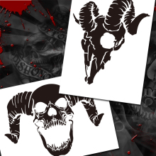 Airbrush Templates Stencil BPS-002 Animal Skull Pile Airbrushes Painting Stencil Templates