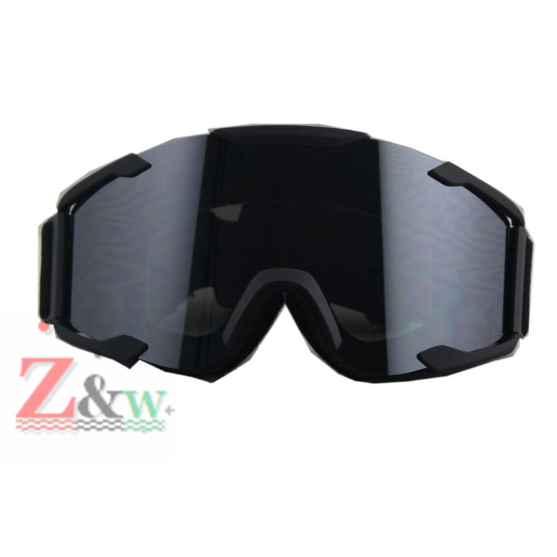 Black Lense Black Frame Ski Snowboard Goggles Skiing Dirt Bike Motorcycle Motocross Dust-proof Goggles Windproof Eyewear Glasses