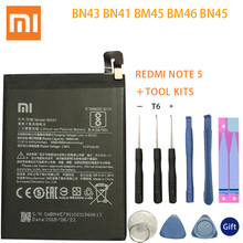 BN43 BN41 BM45 BM46 BN45 Battery For Xiaomi Redmi Note 5 4 4X 3 2 Note2 Note3 Note4 Note4X Replacement Lithium Polymer Bateria
