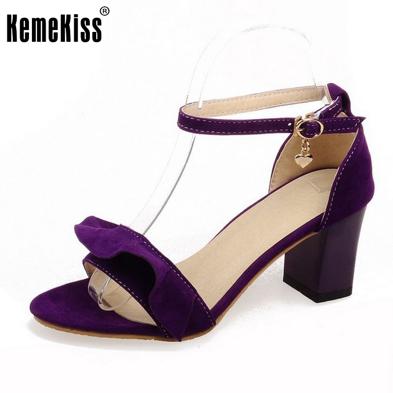 Women High Heel Sandals Ankel Strap Lady Casual Dress Party Shoes For Women Square Heeled Female Sandals Size 34-43 PA00848 xiaying smile summer new woman sandals platform women pumps buckle strap high square heel fashion casual flock lady women shoes