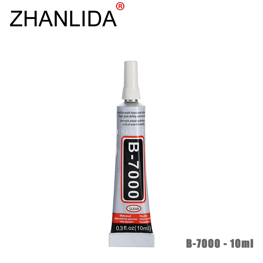 ZHANLIDA B7000 10ML Multipurpose Epoxy Adhesive Jewelry Rhinestones Fix Touch Screen Glass Glue B 7000