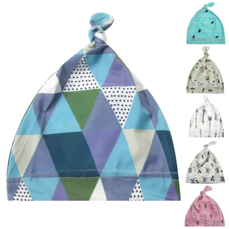 New Style Autumn Winter Newborn Baby Hats Printing Infant Beanie Hats Unisex Caps For Boy Girl Ear Protector Hat