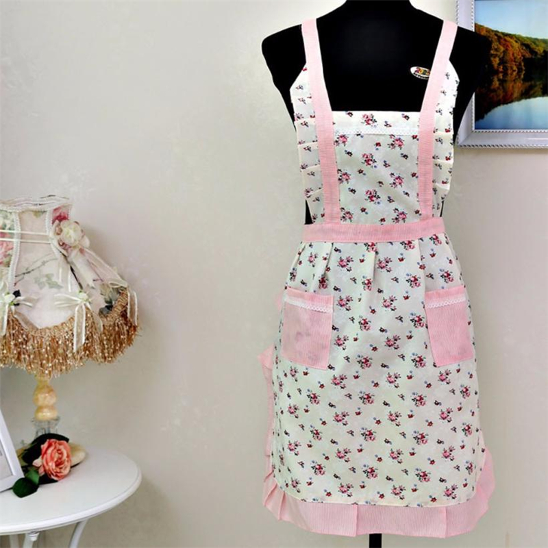 New Women Lady Restaurant Home Kitchen For Pocket Cooking Cotton Apron Bib Cute Eco-Frie ...