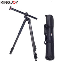 KINGJOY Official F1207R Lateral Carbon Fiber Tripod with Flip lock Flexible Camera Stand For All Models Movil SLR DSLR
