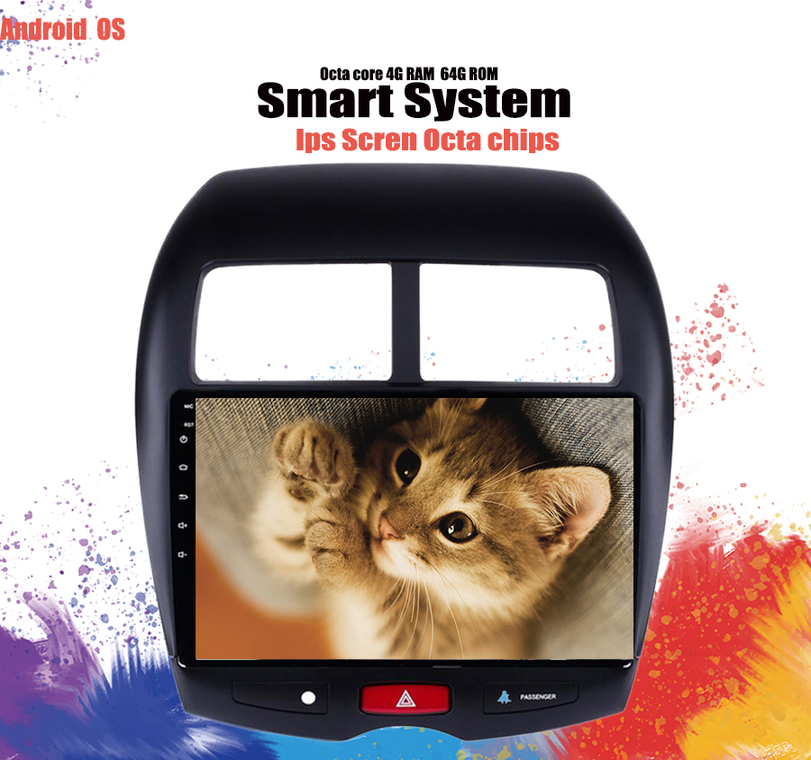 """10"""" 6+128G 2.5D IPS Android 10.0 Car DVD Multimedia Player GPS for Mitsubishi ASX 2010 2012-2014-2016 car radio stereo Head Unit"""