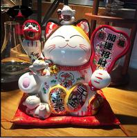 Opening Gift Electric Shaking Hand Lucky Cat Ceramic Deposit Food Shop Feng Shui Decoration Japan Large