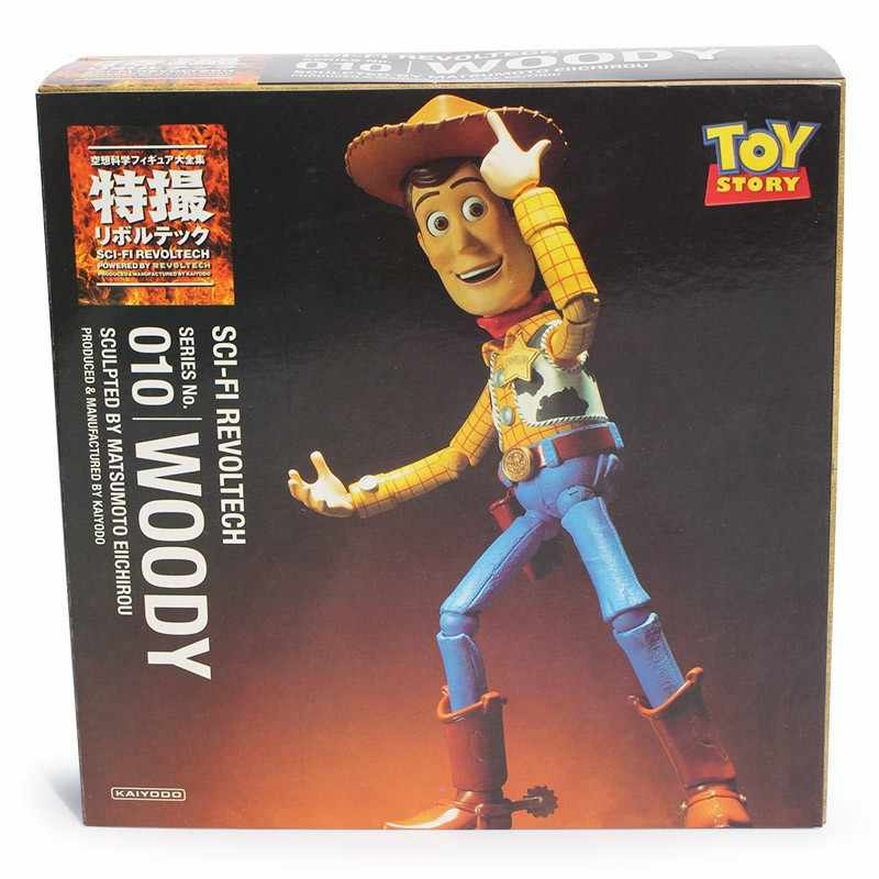 Toy Story Woody Series NO. Sci-Fi 010 Revoltech Woody Binóculos Especiais PVC Action Figure Toy Collectible
