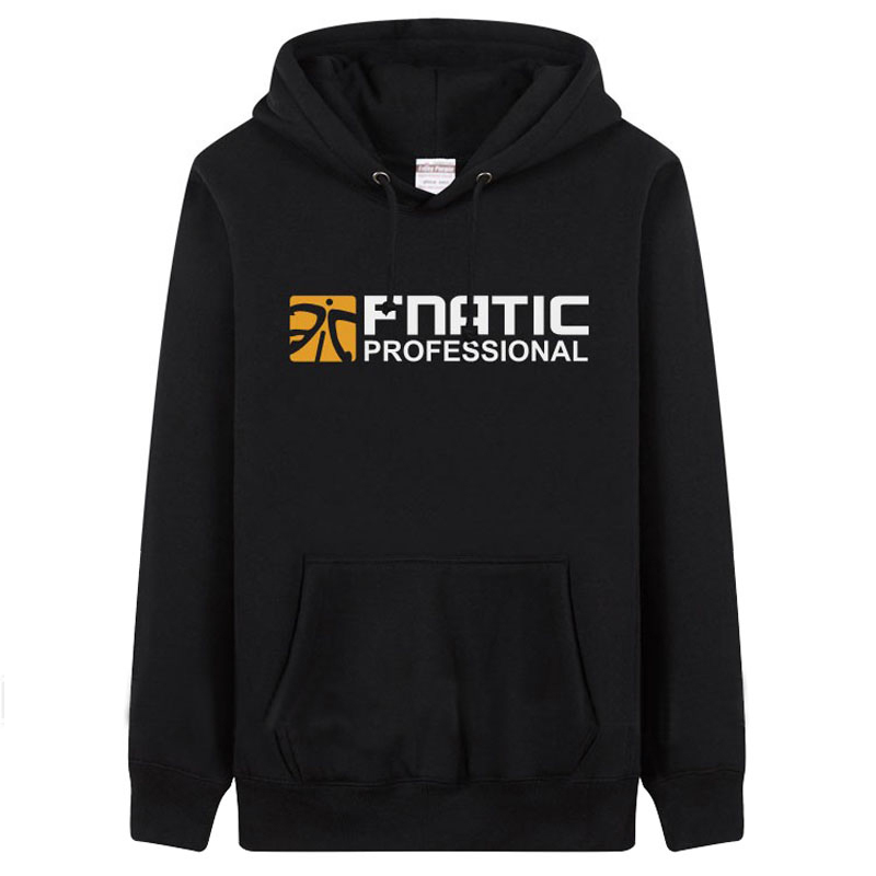 FNATIC men s hoodie sweatshirts Autumn Winter boy s black fleece hooded cotton O Neck casual