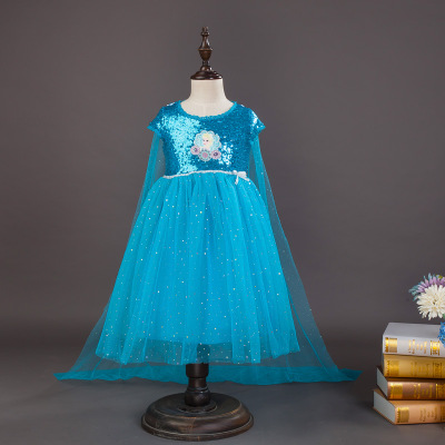 Children's Halloween Cosplay Costume  Anna Dress Princess Dresses  Elsa Dress  Anime Cosplay Birthday Present For Girl
