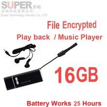 X13 16 GB MP3 player + disco de memoria w/activada por voz grabadora de voz de audio y la función de cifrado de archivos de música jugador REC