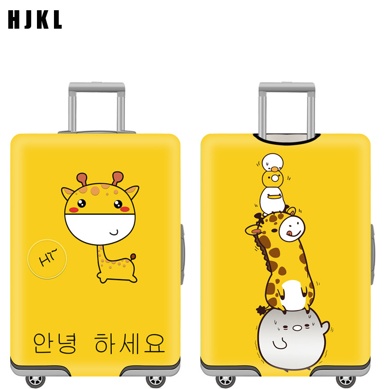 HJKL Pattern Elastic Luggage Cover Protector Dustproof Trolley Suitcase Case Protective Covers Travel Accessories