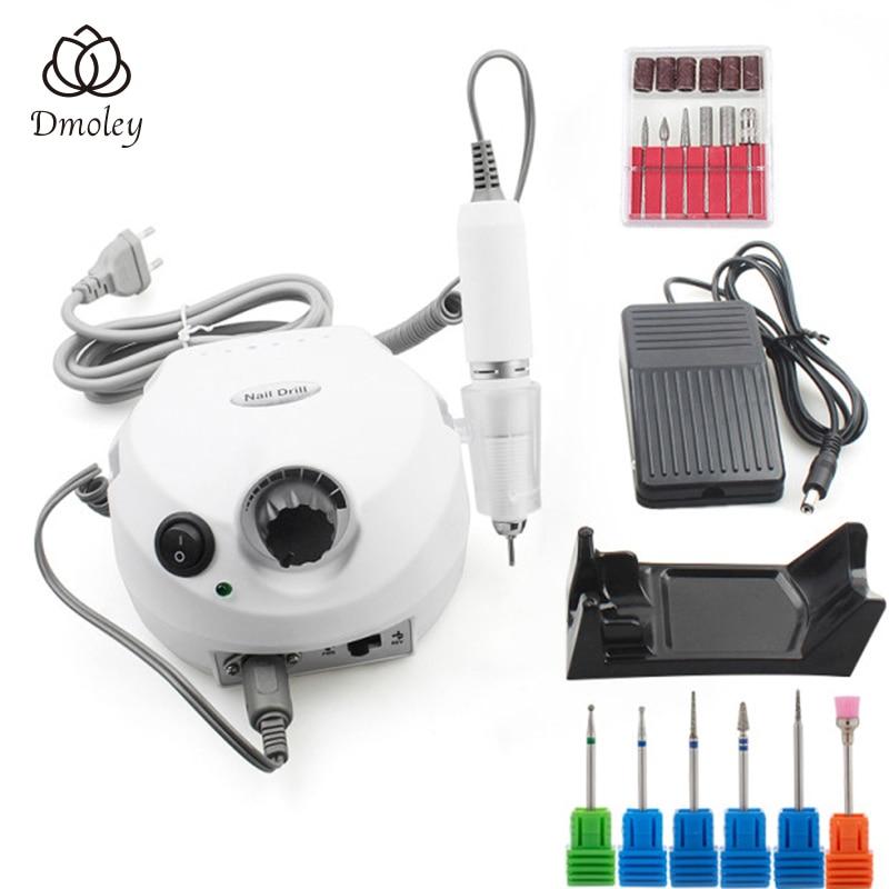 35000RPM Pro Electric Nail Drill Machine With New Version Silicone Case Anti scald Handle Manicure Machine