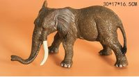 simulation elephant Static Plastic toy about 30x17x16cm model Environmental material Cognition model baby toy gift w0991