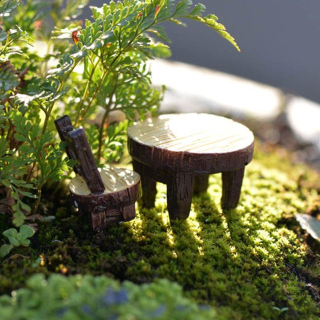 New Miniature Resin Tree Stump Bridge Craft Garden Fairy Ornament ...