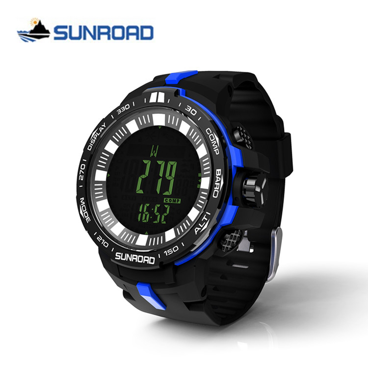 SUNROAD Brand Sport Watch Men's Digital Waterproof Altimeter Barometer Compass Thermometer Weather Pedometer Clock Reloj Hombre