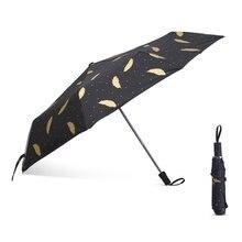 FUNBAKY 3 Folding Feather Korean Umbrella High Quality Small Umbrella Men Strong Windproof Rain Women Anli-UV Portable Travel(China)