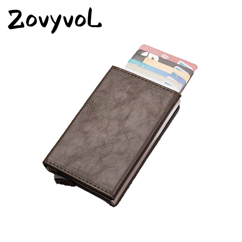 ZOVYVOL New RFID Blocking Card Wallet Smart Wallet Vintage PU Leather Coin Purses Magnetic Closing Card Holder Casual Money Bag