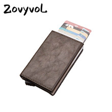 ZOVYVOL new RFID Blocking Card Wallet Smart Vintage PU Leather Coin Purses Magnetic Closing Holder Casual Money Bag