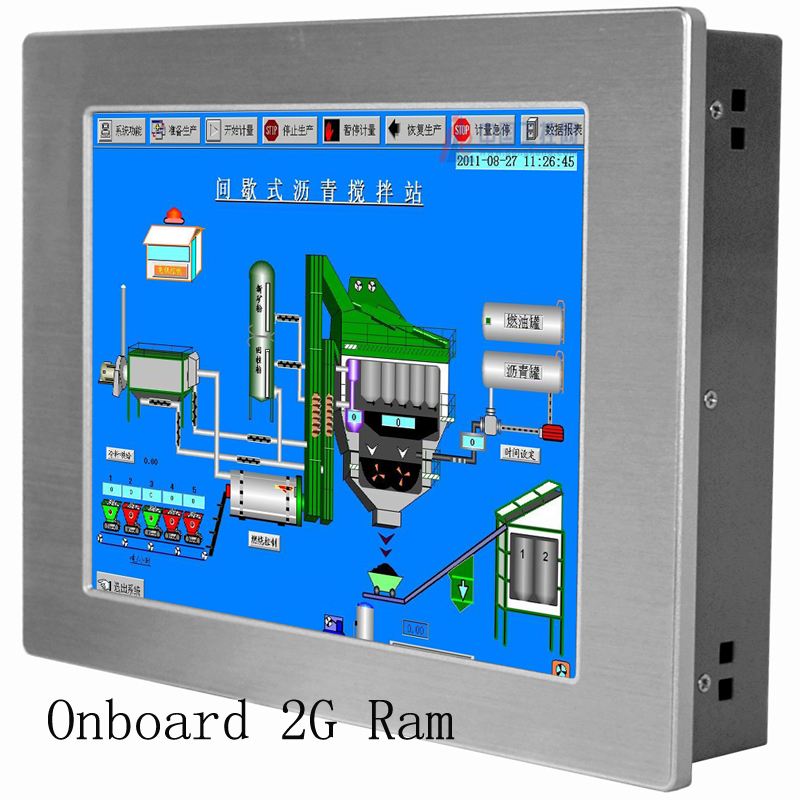2018 Hot Sale IP65 waterproof Fanless 12.1 inch Industrial Panel PC all in one pc for cloud computing