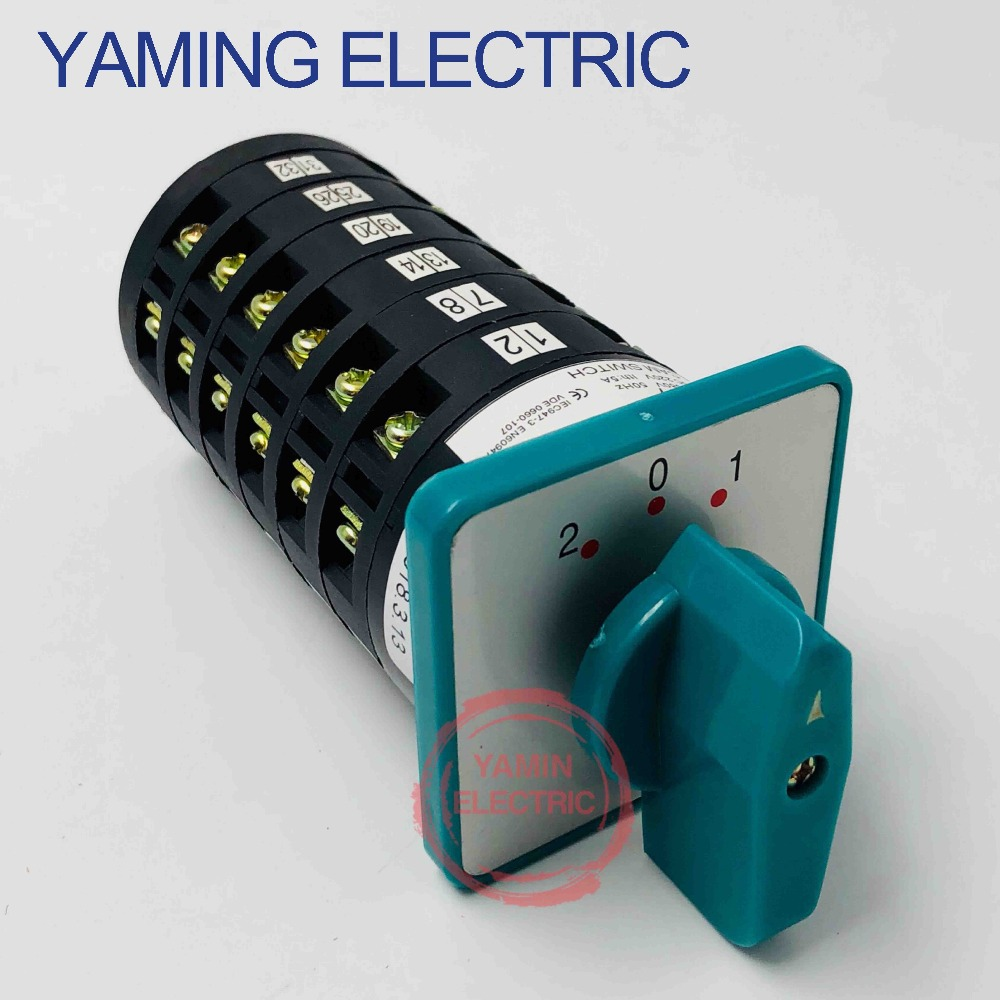 Yaming electric LW6-6 universal conversion switch 6 layer 5A 380V rotary cam switch 3 position 6 poles 36 terminals LW6 Series changeover switch lw6 1 a028 10a 380v universal changeover combination switch one knots lw6
