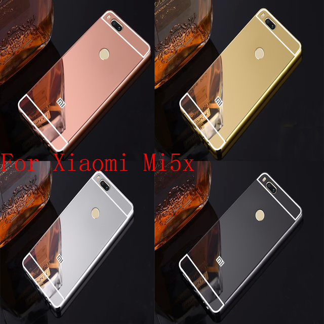 For Xiaomi Mi5X Aluminum Metal + Acrylic Mirror Battery Back Cover Case for Xiaomi Mi A1 Case Xiaomi Mi A1 MiA1 Mi5X Mi 5X