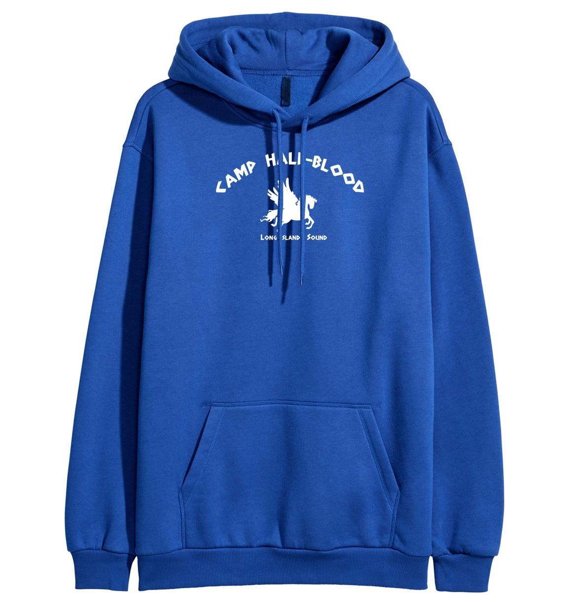 Fashion Sweatshirts 2019 Spring Winter Fleece Hoodies Print Camp Half Blood Demigods Unicorn Kawaii Women's Hoody Pullover Kpop