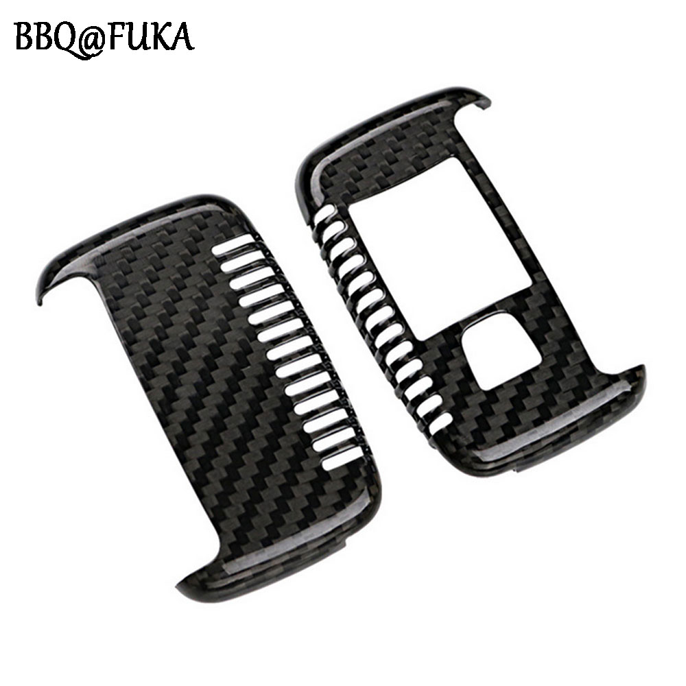 BBQ@FUKA Real Carbon Fiber Car Remote Key Cover Case Skin Shell Holder Fit For Range Rover Evoque Sport 2010-2016 Car-Styling car remote key shell with shell buttons case holder cover for mercedes benz smart