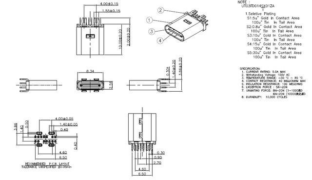 5 pcs USB 3.1 Type C Connector 14 Pin Socket receptacle ... Usb To Wiring Pin Diagram on usb pinout, usb pin configuration, usb pin connector, usb pin power, usb port diagram, usb power diagram, usb pin specification, usb pin guide, usb circuit diagram, usb cable drawing, usb pin cable, usb cable diagram,