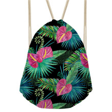 Noisy Designs Tropical Plants Leaves Printed Backpack Women Girls New Drawstring Bag Casual Travel Feminine Backpacks