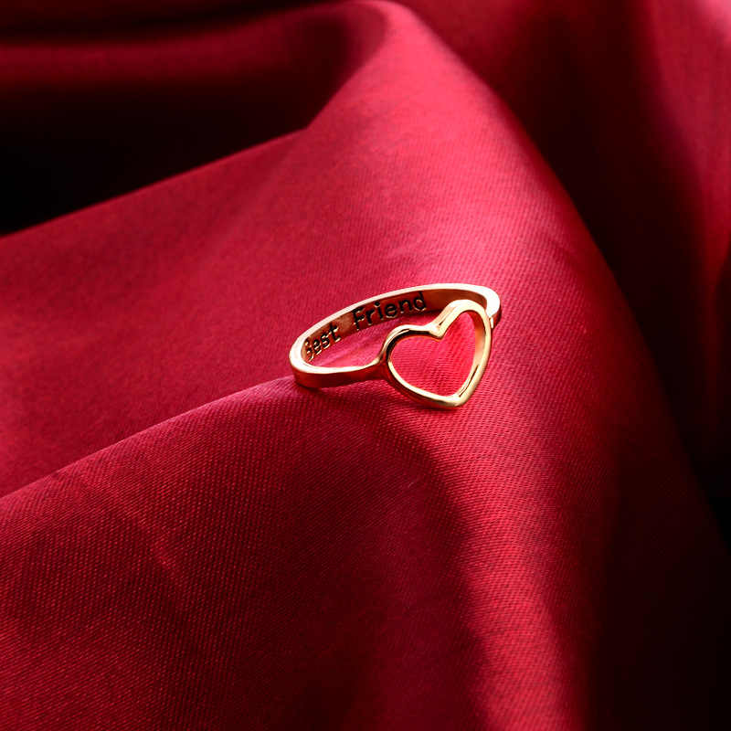 หัวใจแหวนแต่งงานสำหรับผู้หญิงเครื่องประดับทองที่มีคุณภาพจำลองแหวนคริสตัลรักเครื่องประดับขายส่ง