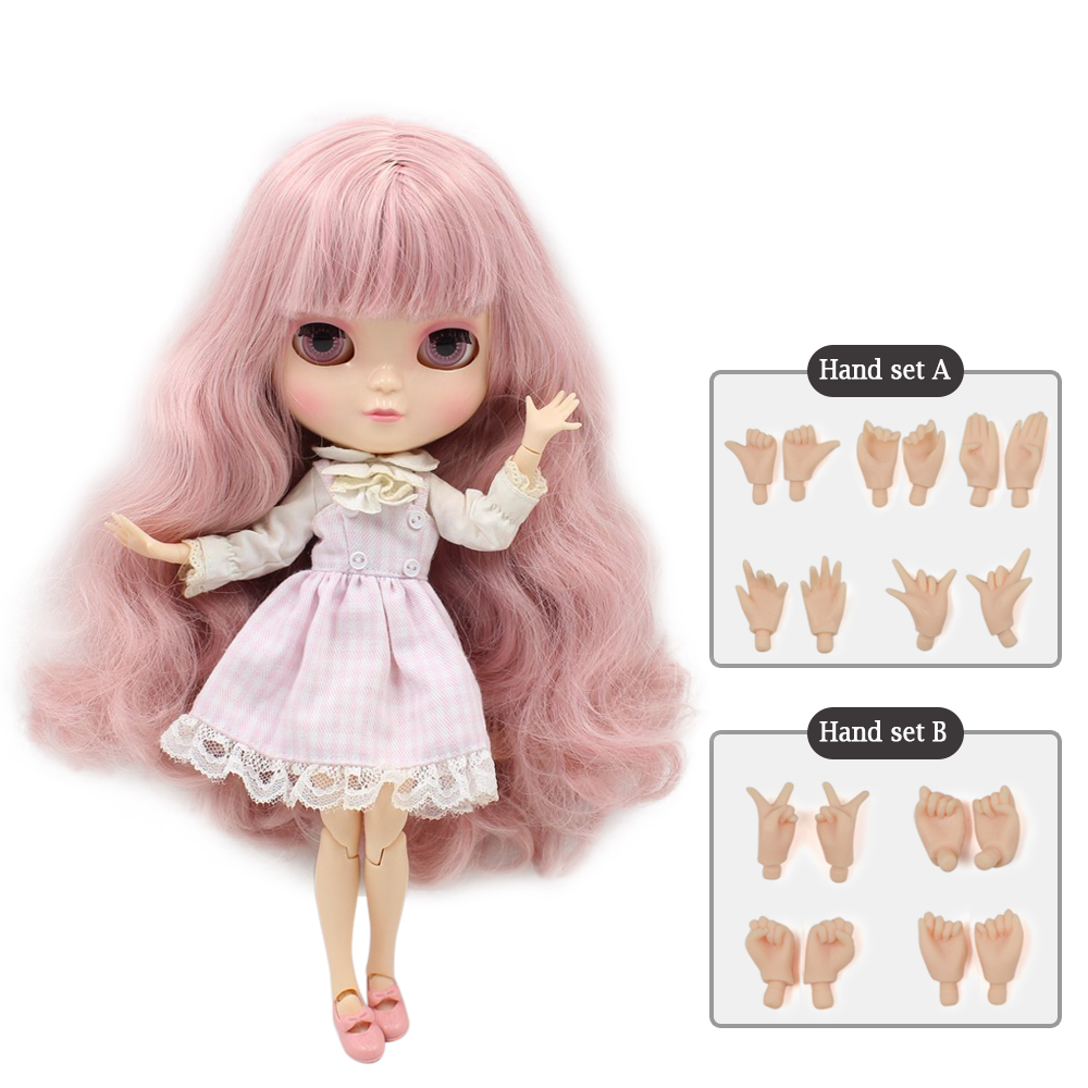 Bobble head doll Azone Joint body ICY doll Include the hand set A&B like blyth BJD 11.5 inch dolls for girls