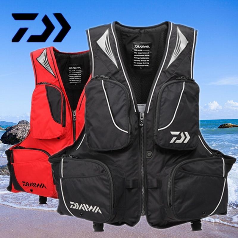 2017 NEW DAIWA Fishing life jacket Vest DAWA Fishing gear outdoors Breathable buoyancy 120 kg Man DAYIWA DF-6305 Free shipping