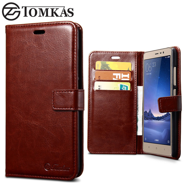 Xiaomi Redmi Note 3 Case Redmi Note 3 Pro Case Cover TOMKAS Wallet Style PU Leather Flip Case For Xiaomi Redmi Note 3 Pro Prime