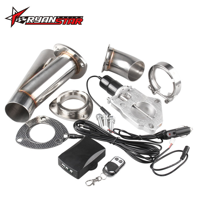 """2"""" or 2.25"""" or 2.5"""" or 3""""  Electric Stainless Exhaust Cutout Cut Out Dump Valve/switch with Remote control TP024A+TP022A"""