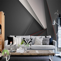 Wallpapers Youman simple style home decorating 3D wallpaper minimalism black abstract geometric wall mural indoors background