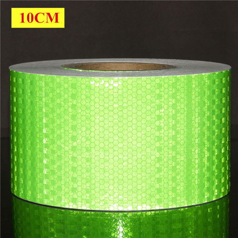 10CM*3M 50M Grass gr High Visibility Reflective Sheeting Car stickers Truck Safety Warning Adhesive strips Conspicuity Tape