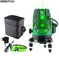 360 Degree Omnidirectional Laser Level Rotation Green Laser 5 Line 6 Point Automatic Leveling Indoor And Outdoor Can Be Used