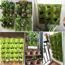 Wall Hanging Planting Bags 4/9/18/49/72 Pockets Green Grow Bag Planter Vertical Garden Vegetable Living Garden Bag Home Supplies