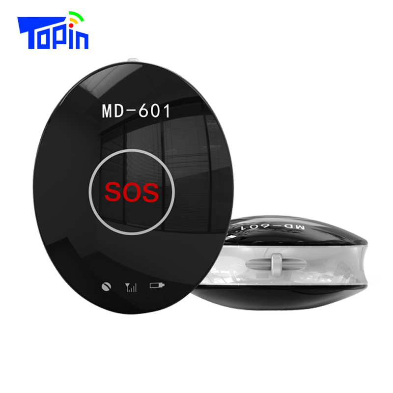 Topin MD601 Portable Mini GPS Tracker Locator GSM GPS AGPS LBS Collar SOS Free Platform APP for Children Pets Bike Car Tracking