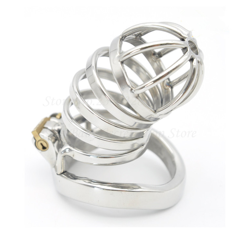 Adult Game 304 Stainless Steel Stealth Lock Male Chastity Device,Penis Rings,Cock Cage,Chastity Belt,Bondage Sex toys For Man