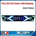Открытый полноцветный из светодиодов дисплей из светодиодов текста доска из светодиодов 32 * 192 см прокрутки сообщения p13.33 из светодиодов знак