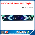 Outdoor full color led display led text board led screen 32*192cm scrolling message p13.33 led sign