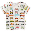 2017 Hot 100% Cotton Jumpingbaby Children Boys Summer T-Shirt For 1-6Y Kids Child Short Sleeve Cartoon Car Tops Tees Clothing