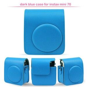 Image 4 - Beschermende Pu Leather Classic Camera Tas Met Schouderriem, Compatibel Voor Fujifilm Instax Mini 70 Instant Camera
