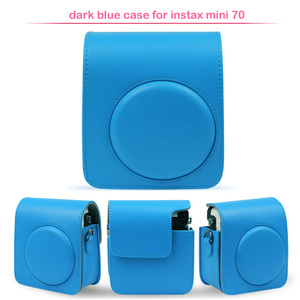 Image 4 - Sac de protection classique en cuir pour appareil photo avec bandoulière, Compatible pour appareil photo instantané Fujifilm Instax Mini 70