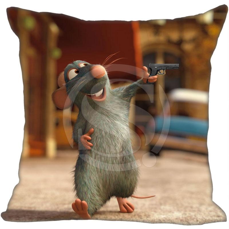 Hot Sale Custom Ratatouille Mouse Pillowcase 35x35cm 40x40cm Soft Pillow Case