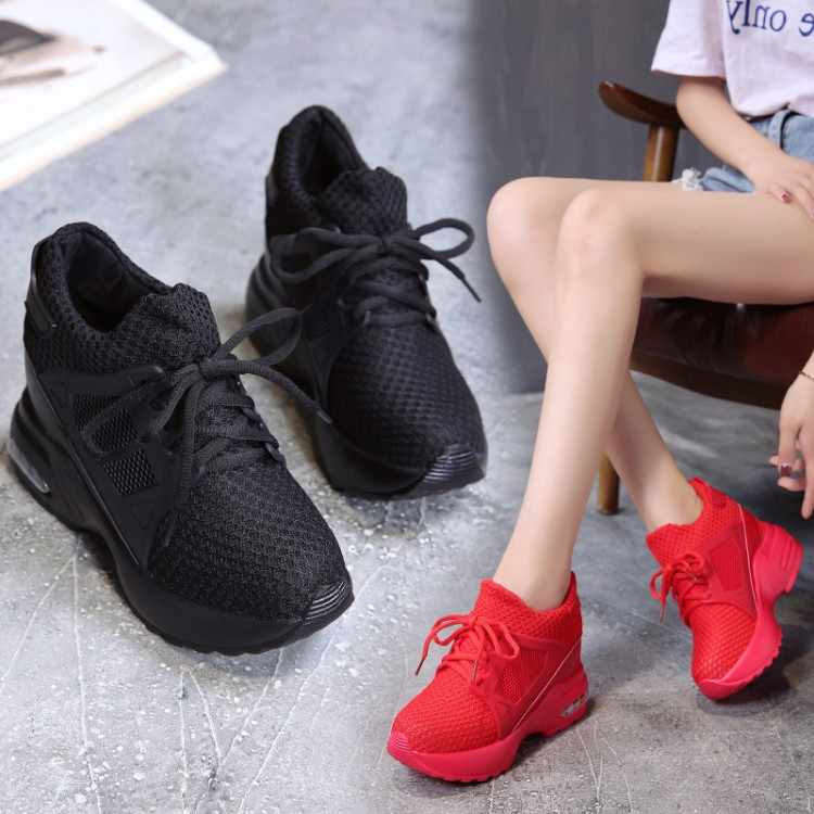 54995fa25 ... Массивные модные кроссовки Женская обувь женские осенние брендовые  черные кроссовки женские женская текстильная обувь женские кроссовки ...