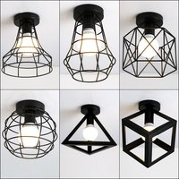 YZF Nordic Creative Personality Living Room Ceiling Lamp Modern Simple E27 Ceiling Light Restaurant Bedroom Iron